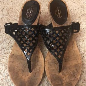 Coach Sandals.  Size 10.